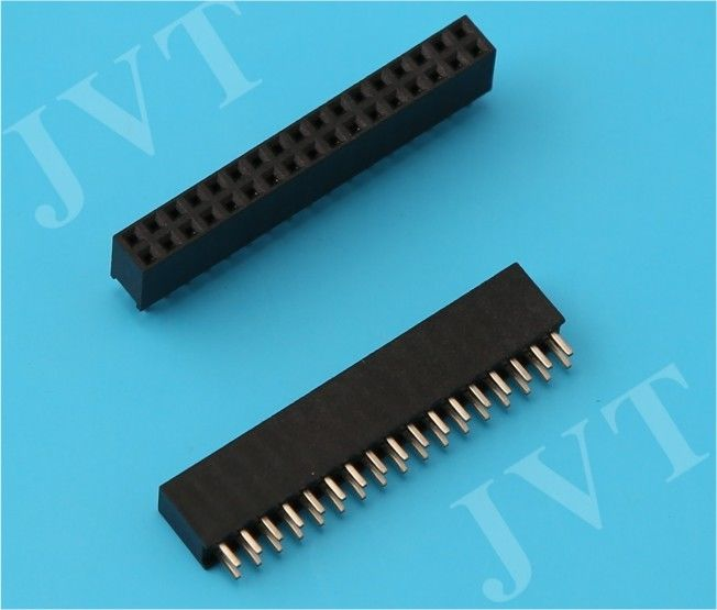 Brass Straight Female Header Connector Dual Row with Surface Mount Technology Type