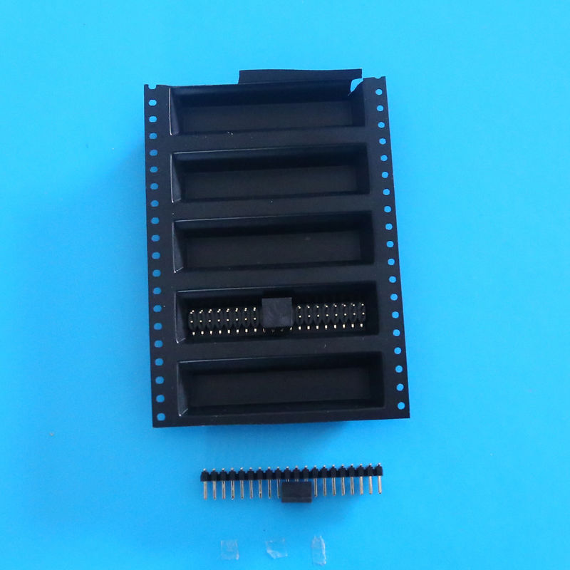 1.27 Pitch Connectors dual row Headers 8 - 60pins SMT Female With Cap LCP plastic