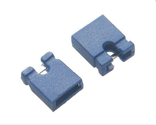 Gold Flash Blue Micro Jumper Pin Connector 1.0A 1.5A 3.0A Reach Certification