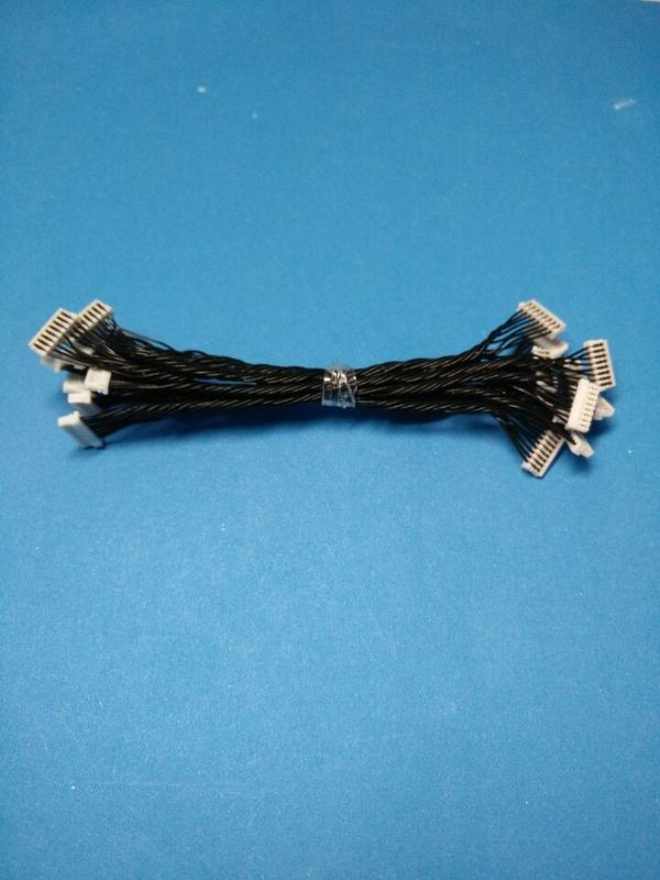 0.8mm IDC connector Wire Harness Cable Assembly 4 pin contact , UL10064  AWG 32 , black wire color