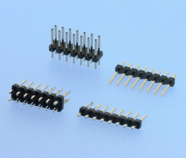Single / Double Row PCB Pin Header 2.54mm Pitch Straight High Speed Connectors