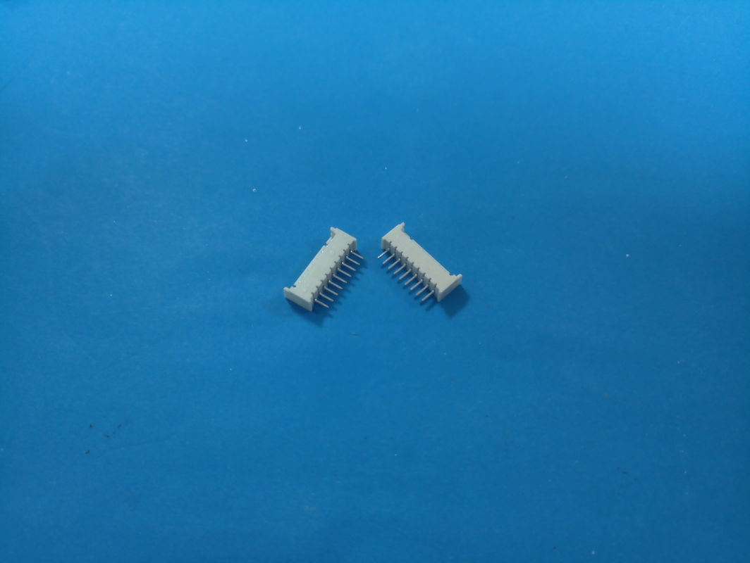 1.25mm Pitch Shrouded Header Connector , 2 Pin - 16 Pin Right Angle Wire Connectors Vertical