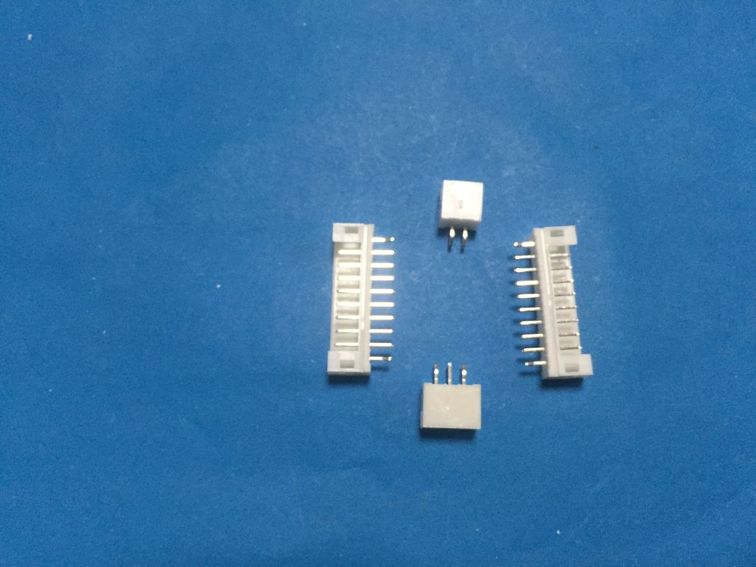 Straight  Angle Dip Type Pcb Mount Connector , Wafer 3 Pin Pcb Connector White Color
